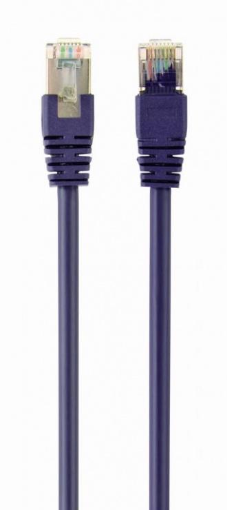 Imagine Cablu de retea RJ45 FTP cat6 0.5m Mov, Gembird PP6-0.5M/V
