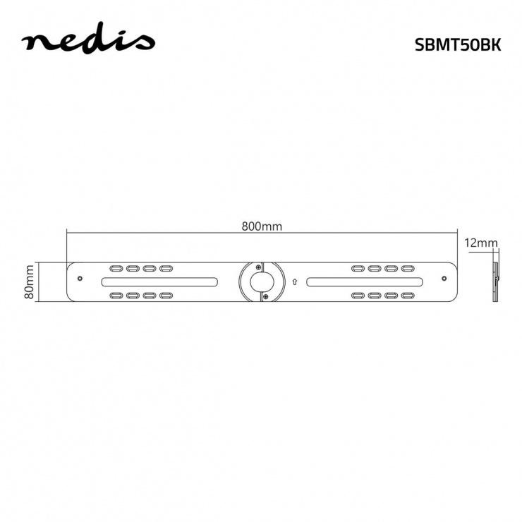 Imagine Suport low profile pentru soundbar, Nedis SBMT50BK
