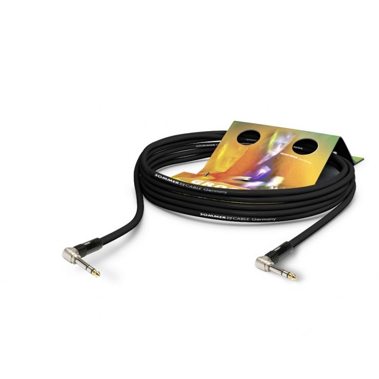 Imagine Cablu audio jack stereo 6.35mm unghi 90 grade 10m, HICON SG3P-1000-SW