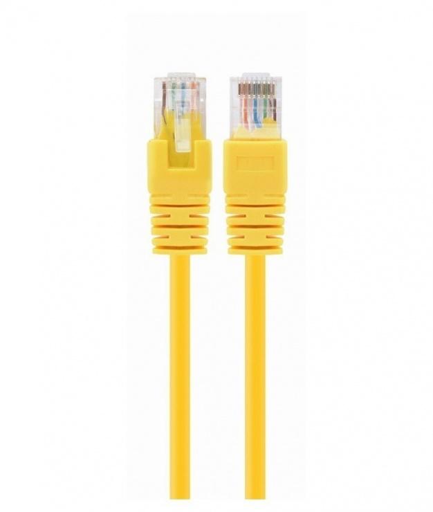 Imagine Cablu de retea RJ45 cat 5e UTP 0.25m Galben, Spacer SP-PT-CAT5-0.25M-Y