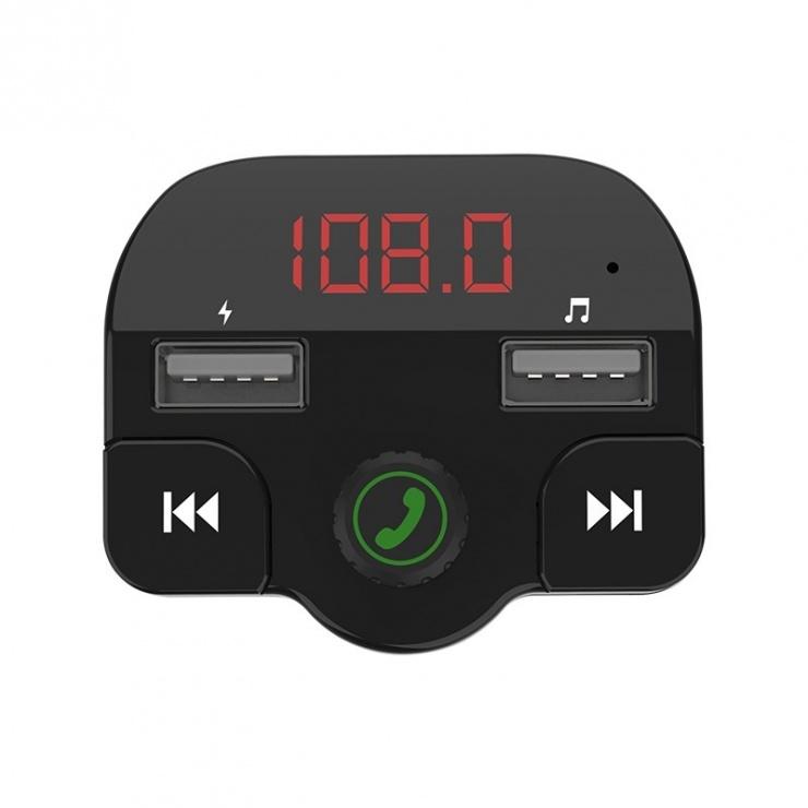 Imagine Transmitator auto FM Bluetooth 5.0,  2x USB 5V/3.1A + micro SD, Spacer SPFM-02