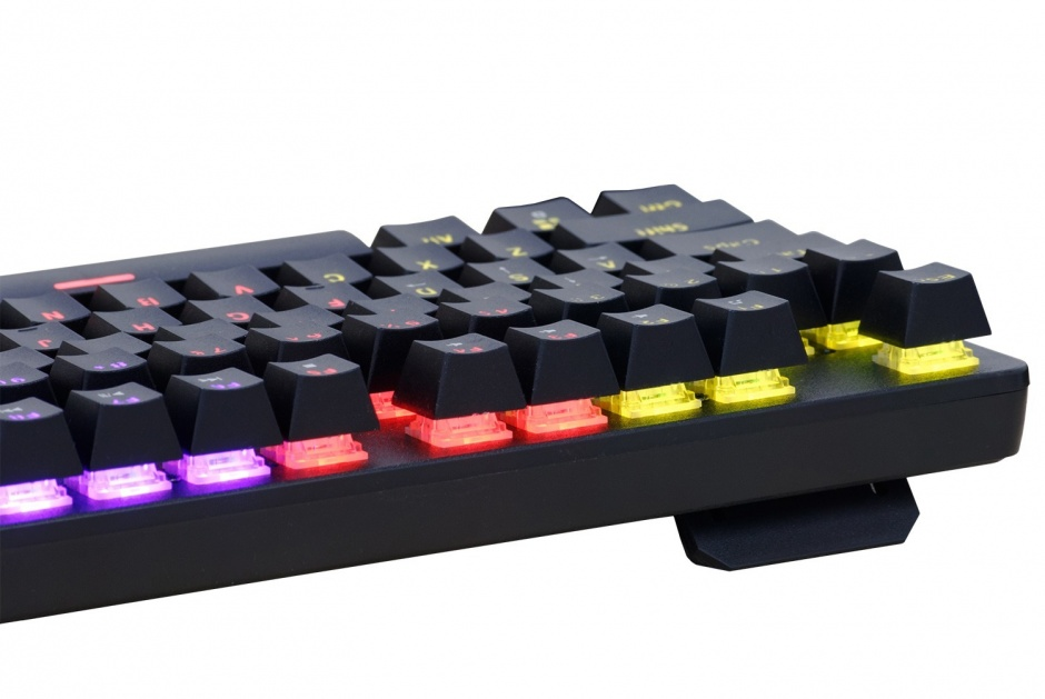 Imagine Tastatura mecanica iluminata RGB USB Negru, Spacer SPKB-MK-WAR