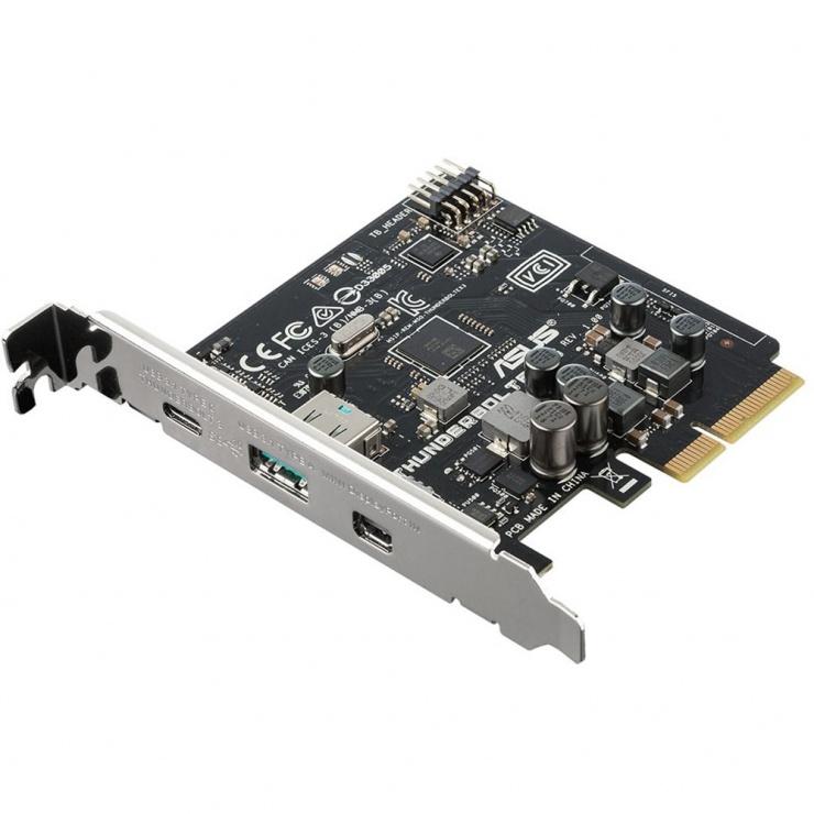Imagine PCI Express cu 1 x USB type C/Thunderbolt 3 + 1 x USB 3.1-A + 1 x Mini Displayport, ASUS