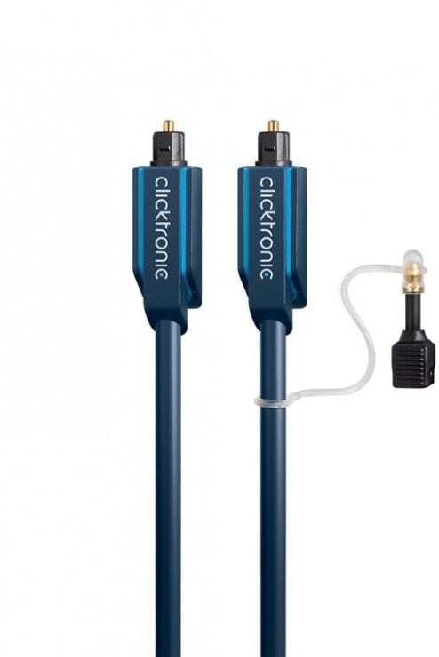 Imagine Cablu audio optic Toslink SPDIF cu adaptor mini Toslink 15m, Clicktronic CLICK70374