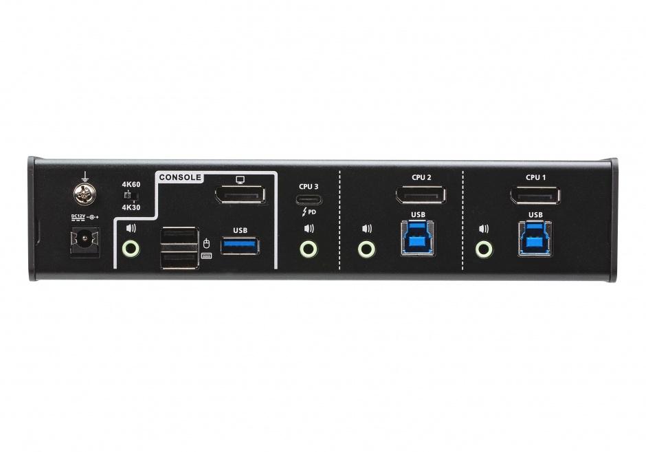 Imagine Switch KVMP USB-C DisplayPort Hybrid 3 porturi, ATEN CS1953