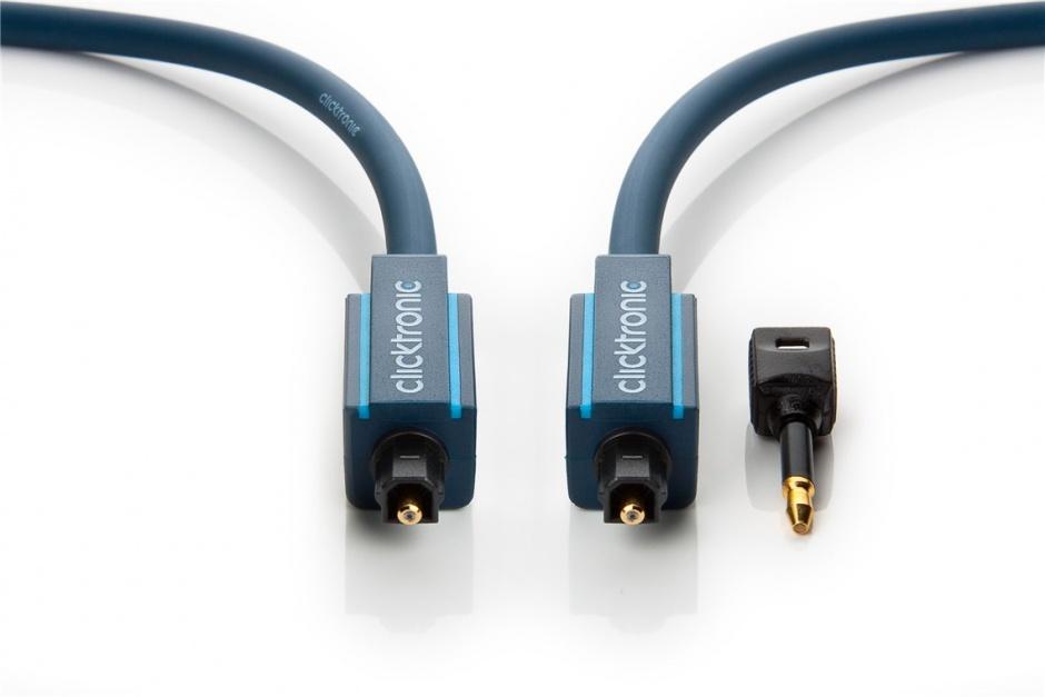 Imagine Cablu audio optic Toslink SPDIF cu adaptor mini Toslink 7.5m, Clicktronic CLICK70371
