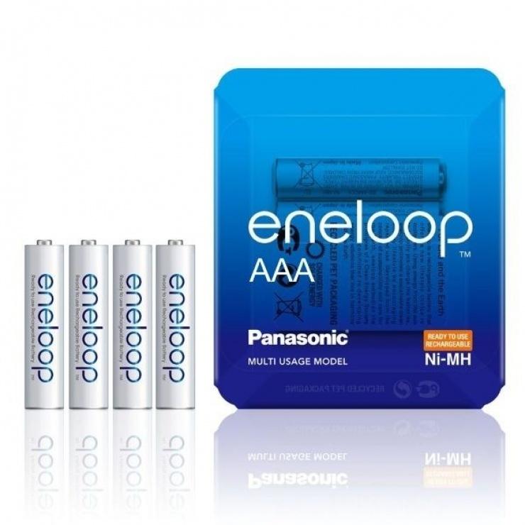 Imagine Set 4 acumulatori AAA 750 mAh, Eneloop BK-4MCCE/4LE