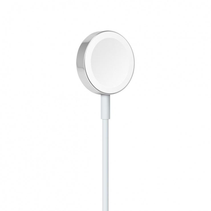 Imagine Cablu de incarcare USB-A pentru Apple Watch 1m Alb, Apple MX2E2ZM/A