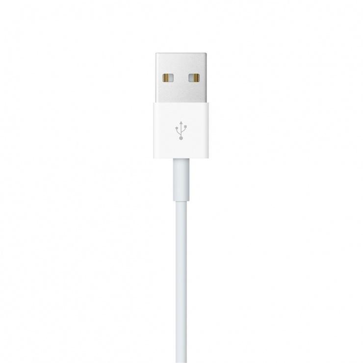 Imagine Cablu de incarcare USB-A pentru Apple Watch 0.3m Alb, Apple MX2G2ZM/A