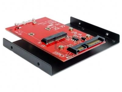 """Imagine Adaptor SATA 22 pini la mSATA + frame 3.5"""", Delock 62415"""