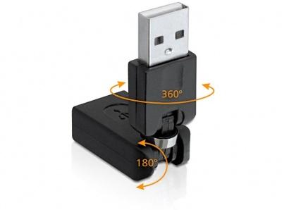 Imagine Adaptor USB 2.0 A T - M rotabil, Delock 65260
