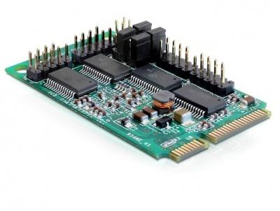 Imagine Mini PCIe I/O PCIe full size 4 x serial RS-232 cu Power Management, Delock 95001-1