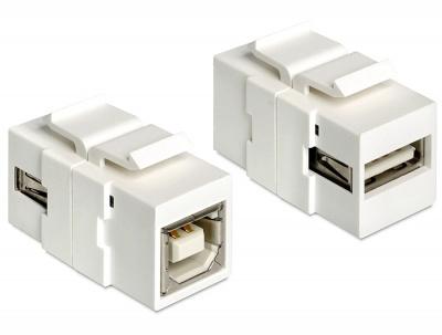 Imagine Modul Keystone USB 2.0 tip A M la USB 2.0 tip B M, Delock 86320