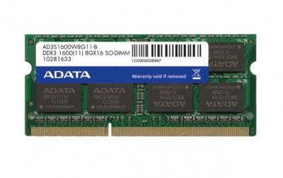 Imagine Memorie ADATA SODIMM 2GB DDR3 1600MHz Bulk AD3S1600C2G11-B