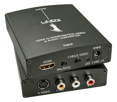 Imagine Convertor HDMI la S-Video/Composite Video & Audio, Lindy L38093