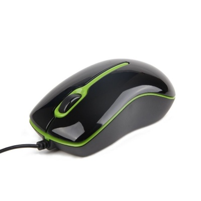 "Imagine Mouse GEMBIRD USB OPTIC black&green ""MUS-U-004-G"""