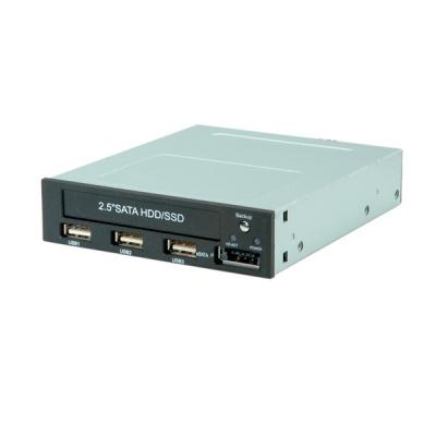 """Imagine Rack intern pentru HDD/SSD 2.5"""" SATA + 3 x USB 2.0 + eSATA cu functie de Backup, Roline 16.01.4139"""