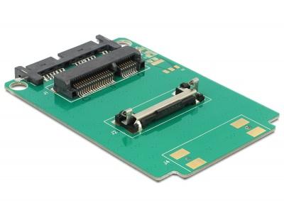 Imagine Convertor Micro SATA 16 pini la mSATA half size, Delock 62519-1