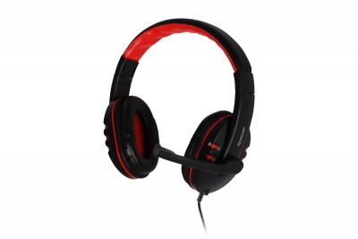 Imagine Casti cu microfon SPACER SPK-203, Black-Red