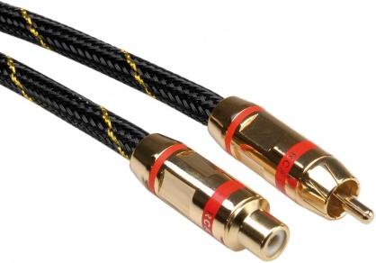 Cablu GOLD prelungitor audio RCA rosu T-M 5m, Roline 11.09.4254