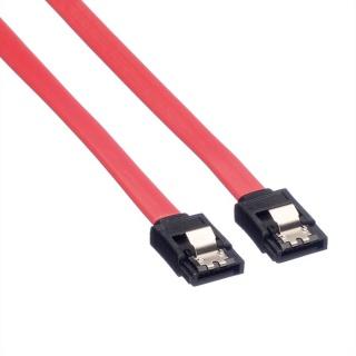 Cablu date SATA III 6 Gb/s drept/drept 0.5m Rosu, Value 11.99.1550
