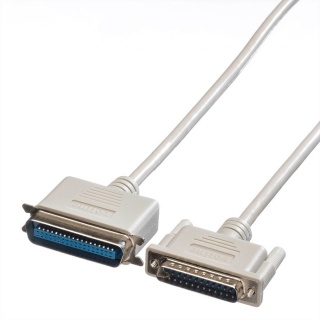 Cablu imprimanta paralel bidirectional DB25 la Centronics 6m, Roline 11.01.1060