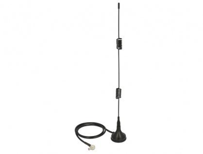 Antena LTE TS-9 Bluetooth / GSM / UMTS / WLAN 2.4 GHz / Z-Wave / ZigBee 2 - 3 dBi omnidirectionala cu baza fixa magnetica, Delock 12480