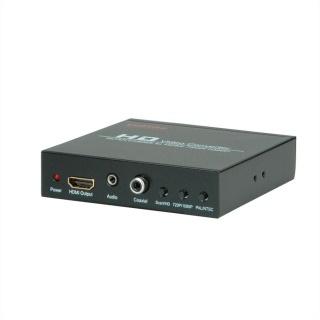 Convertor SCART + HDMI  la HDMI 720p / 1080p, Roline 14.01.3463