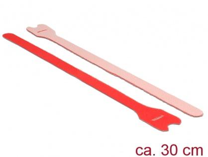 Curele cu arici rosii 300 mm x 12 mm 10buc, Delock 18691