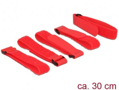 Set 5 bucati cureluse cu arici rosii 300 mm x 20 mm, Delock 18705