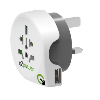 Adaptor World (EU, USA, UK) la UK + 1 x USB 2.1A, Q2POWER 19.07.1577