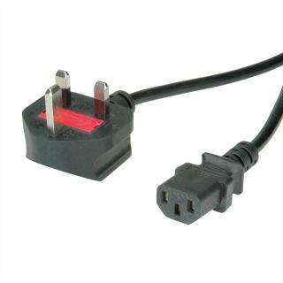 Cablu de alimentare UK la C13 10A 3m Negru, Value 19.99.2019