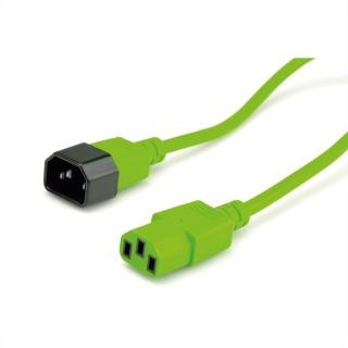 Cablu prelungitor PC C13 la C14 Verde 1.8m T-M, Roline 19.08.1523