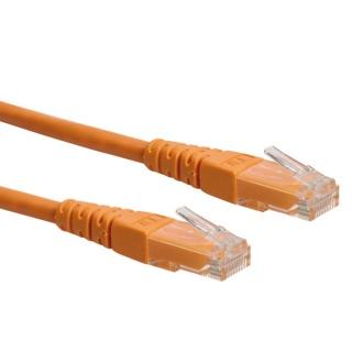 Cablu retea UTP cat.6 orange 1m, Roline 21.15.1537