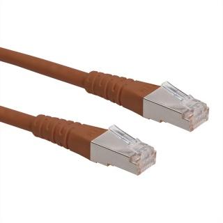Cablu de retea S/FTP (PiMF) Cat.6 maro 15m, Roline 21.15.1398