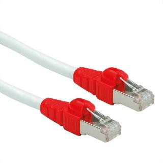 Cablu de retea EASY SFTP cat. 6A Alb 0.3m, Roline 21.15.2470