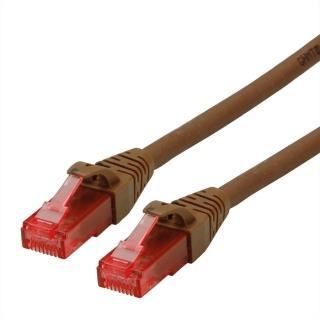 Cablu de retea UTP Patch Cord Cat.6A Component Level LSOH Maro 7.5m, Roline 21.15.2786