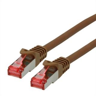 Cablu de retea SFTP cat 6 Component Level LSOH maro 0.3m, Roline 21.15.2959