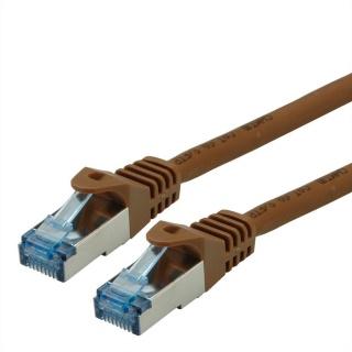 Cablu de retea S/FTP Cat.6A, Component Level, LSOH maro 5m, Roline 21.15.2885