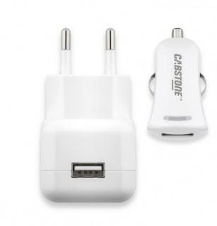 Kit Incarcator auto + incarcator priza 1 x USB 2.1A, Cabstone W63049