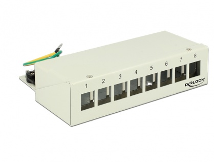 Patch Panel montare desktop pentru keystone 8 porturi gri, Delock 43336