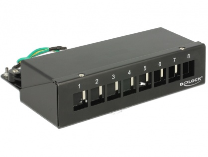 Patch Panel montare desktop pentru keystone 8 porturi negru, Delock 43338