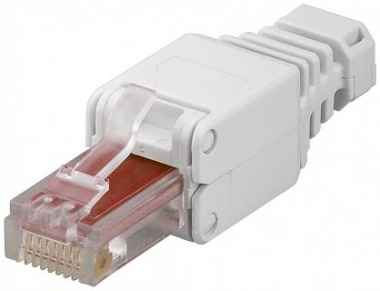 Conector de ansamblat RJ45 cat. 6 UTP pentru fir solid AWG 22 - 26, Goobay 44738