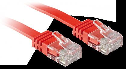 Cablu de retea cat 6 UTP Flat rosu 3m, Lindy L47513
