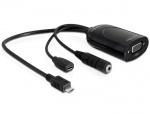 Adaptor MHL Micro USB T la VGA M + USB micro-B, Delock 65336