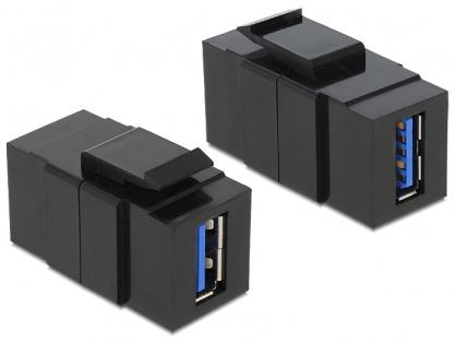 Modul Keystone USB 3.0-A M-M Negru, Delock 86369