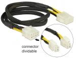 Cablu prelungitor 8 pini EPS (2 x 4 pin) la 8 pini T-M 44 cm, Delock 83653