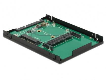 """Convertor 2.5"""" SATA 22 pini la 1 x mSATA / 1 x CFast 9.5mm, Delock 62862"""