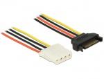 Cablu de alimentare SATA la Molex T-M 70cm, Delock 60138