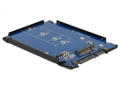"Adaptor SATA 22 pini la M.2 NGFF + rack extern 2.5"", Delock 62688"